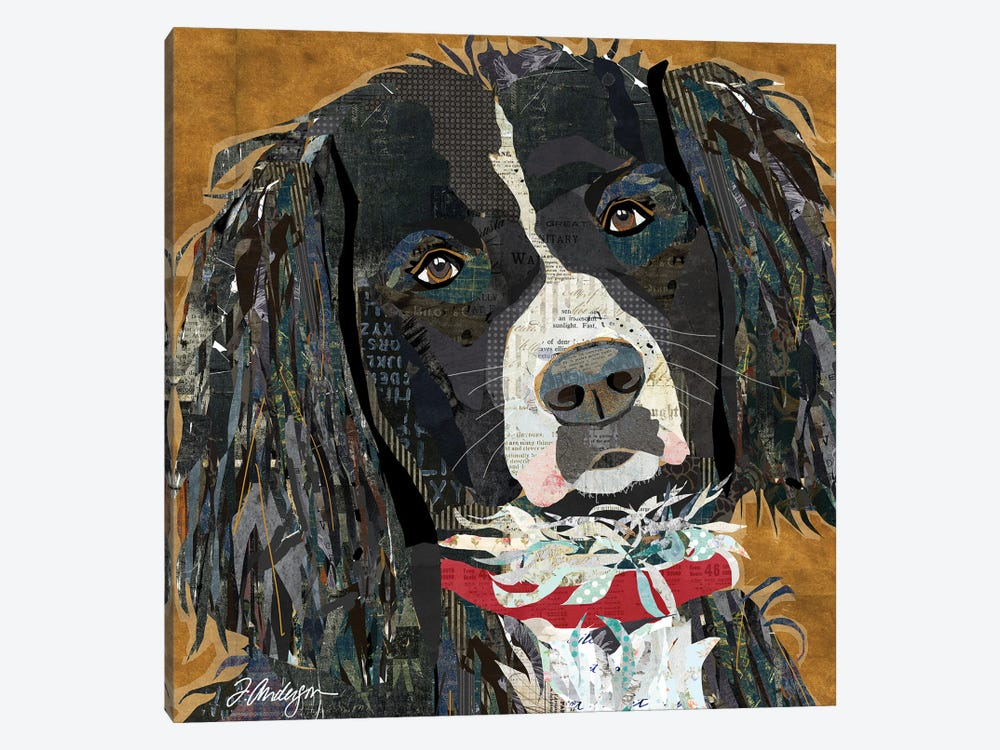 Springer Spaniel Collaged by Traci Anderson 1-piece Art Print