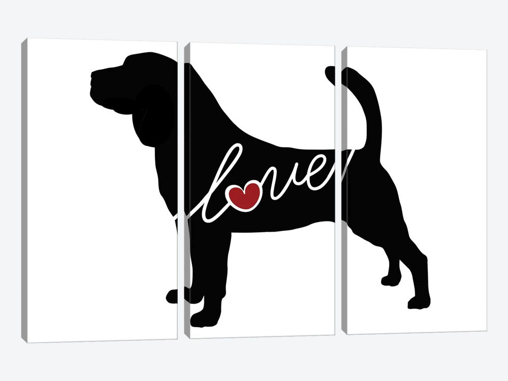 Bloodhound by Traci Anderson 3-piece Canvas Print