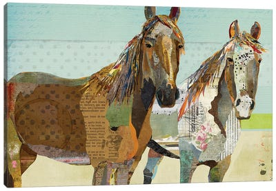 2 Horses Canvas Art Print