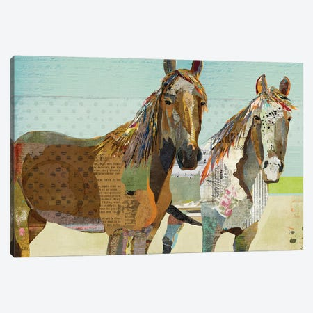 2 Horses Canvas Print #TRA1} by Traci Anderson Canvas Wall Art