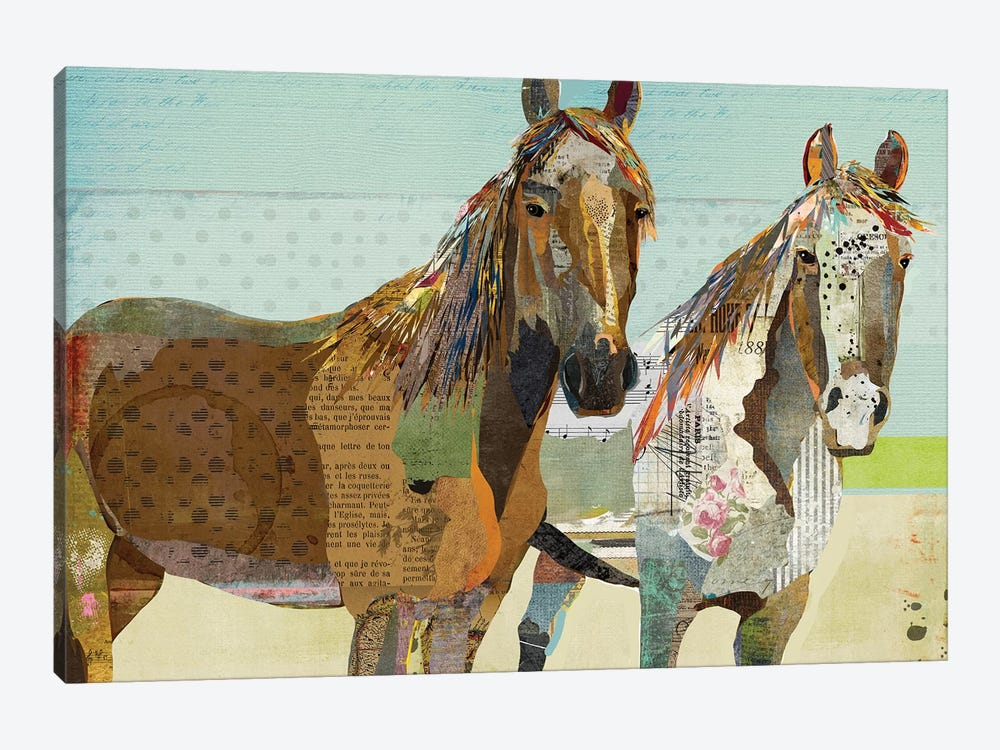 2 Horses by Traci Anderson 1-piece Art Print