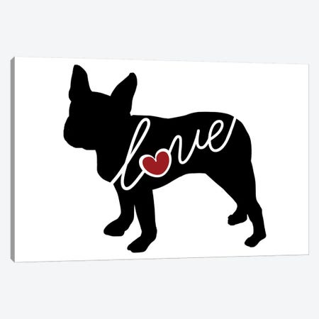 Boston Terrier Canvas Print #TRA20} by Traci Anderson Canvas Art