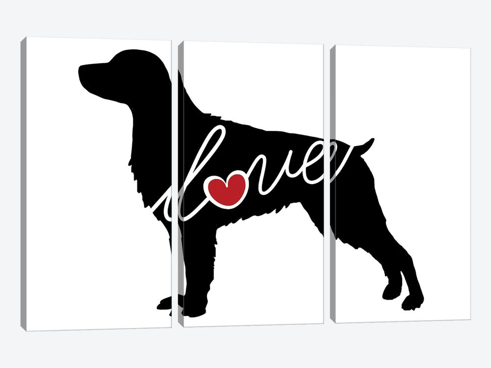 Brittany Spaniel by Traci Anderson 3-piece Art Print