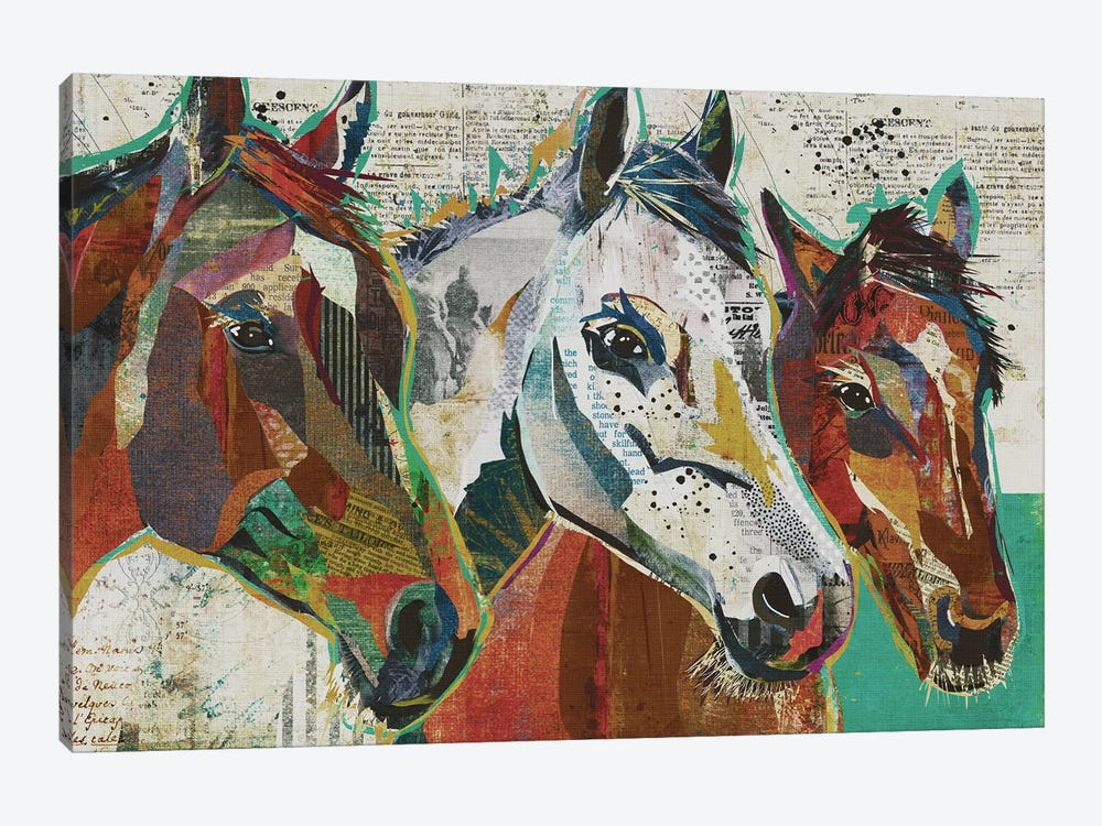 3 Horses by Traci Anderson 1-piece Canvas Art