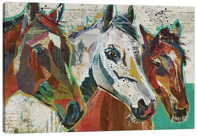 3 Horses Canvas Art Print