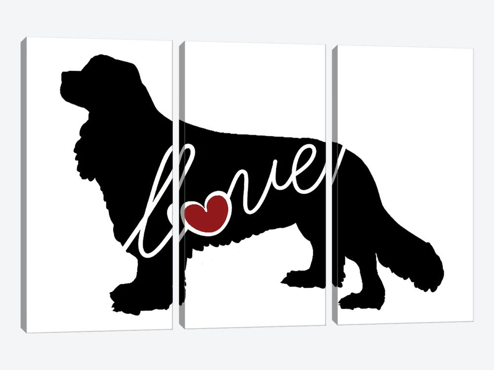Cavalier King Charles by Traci Anderson 3-piece Art Print