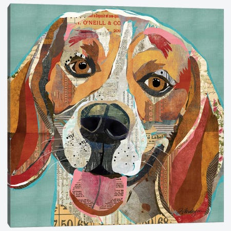 Cheerful Collage Beagle Canvas Print #TRA32} by Traci Anderson Canvas Print