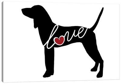 Coonhound Canvas Art Print