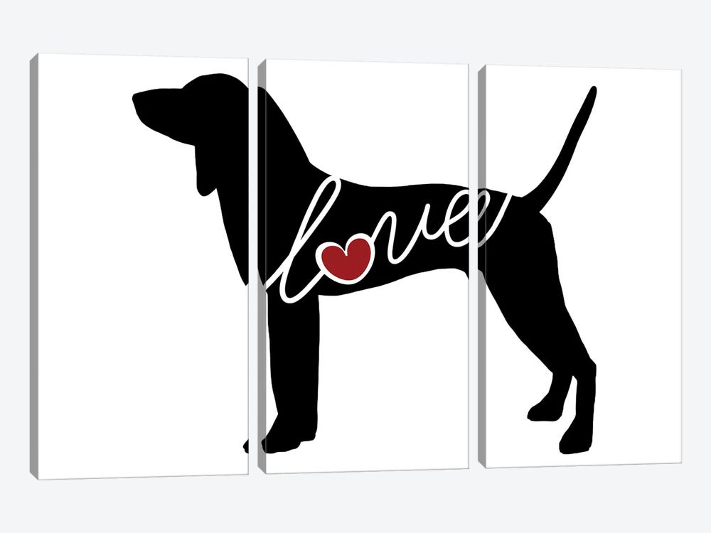 Coonhound by Traci Anderson 3-piece Art Print