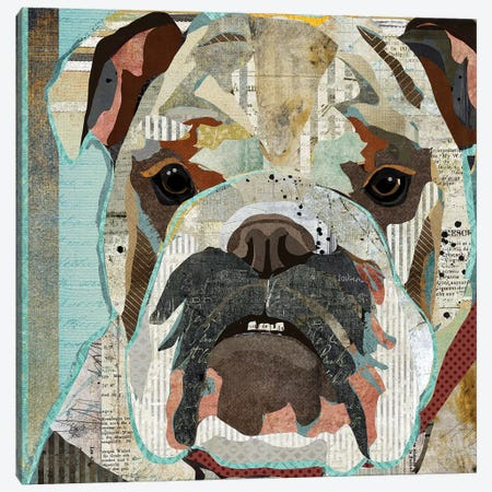 English Bulldog Canvas Print #TRA46} by Traci Anderson Canvas Print
