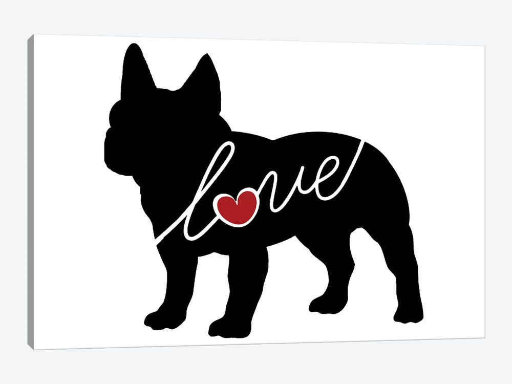 French Bulldog by Traci Anderson 1-piece Canvas Art Print