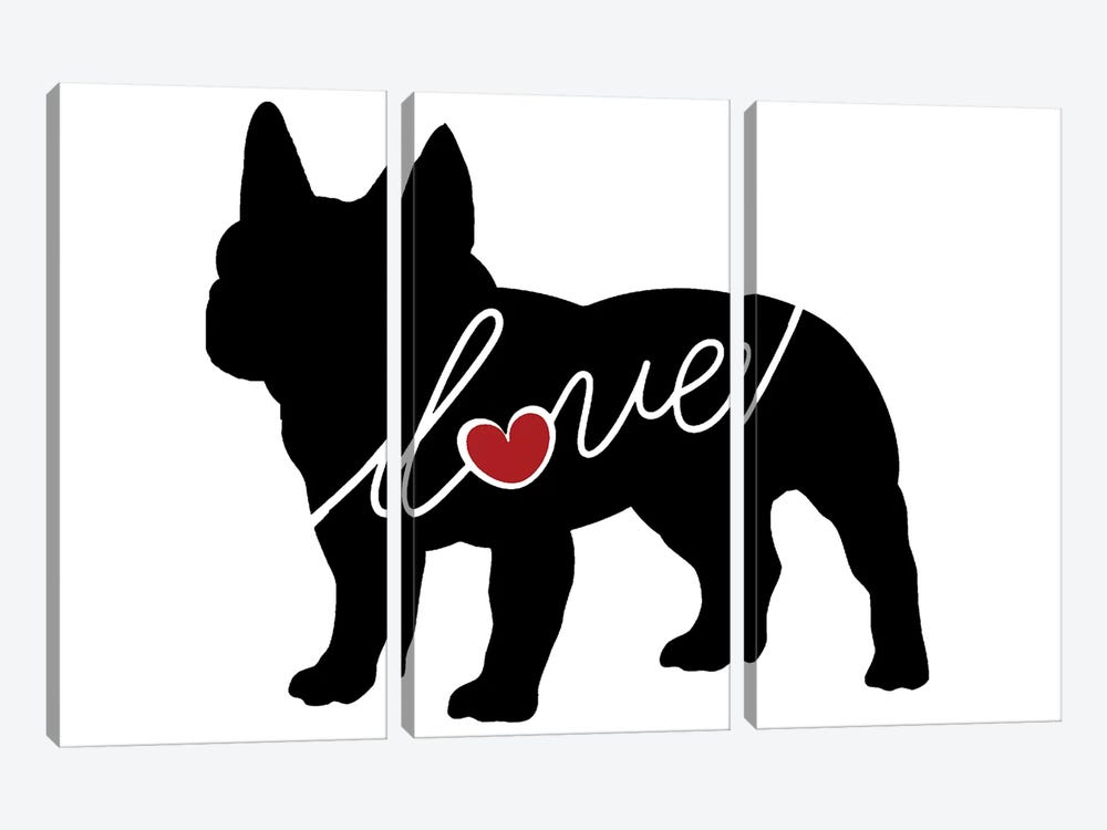 French Bulldog by Traci Anderson 3-piece Art Print