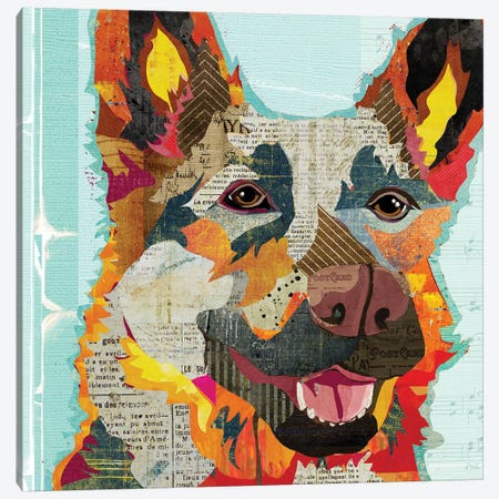 German Shepherd Ii Canvas Print #TRA53} by Traci Anderson Art Print
