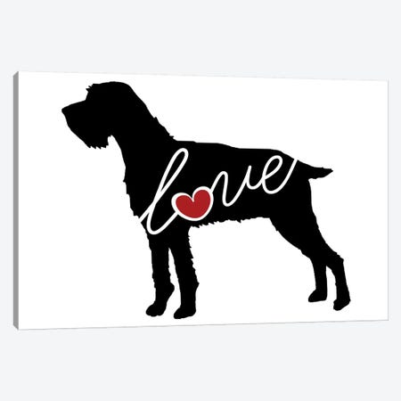 German Wirehaired Pointer Canvas Print #TRA56} by Traci Anderson Canvas Wall Art