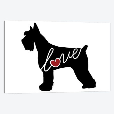 Giant Schnauzer Canvas Print #TRA57} by Traci Anderson Canvas Art