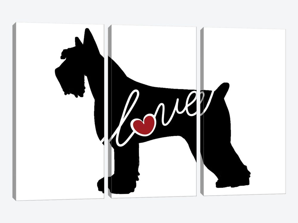 Giant Schnauzer by Traci Anderson 3-piece Canvas Art Print