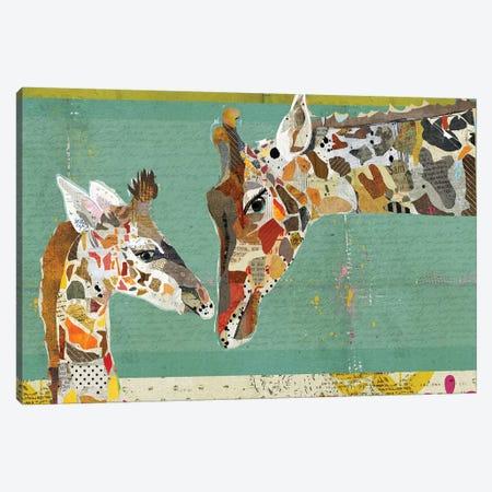 Giraffe Calf Canvas Print #TRA58} by Traci Anderson Art Print