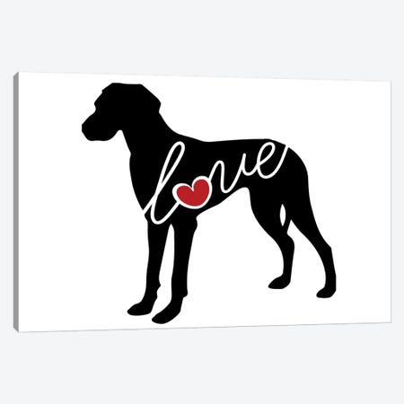 Great Dane Natural Canvas Print #TRA62} by Traci Anderson Canvas Wall Art