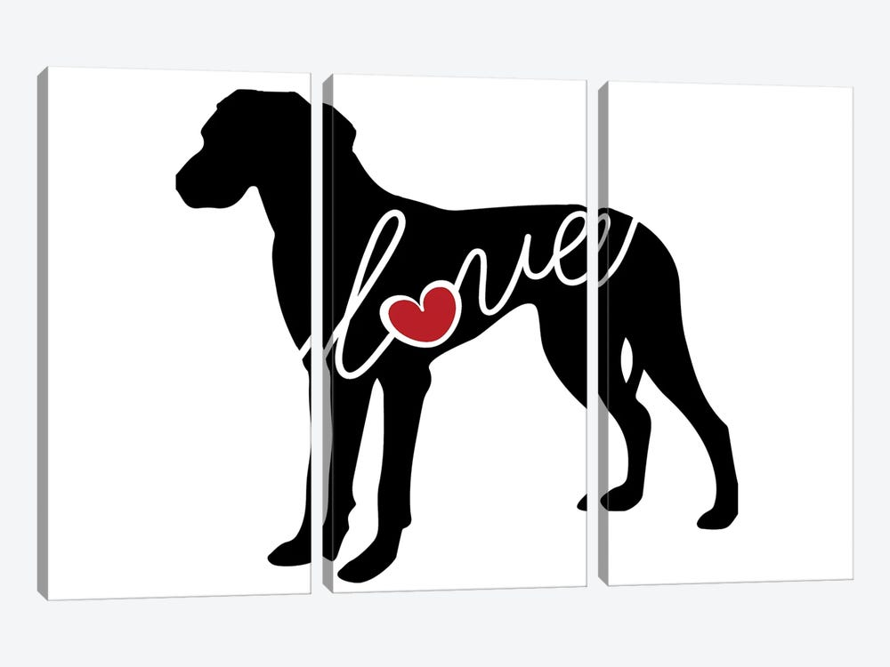 Great Dane Natural by Traci Anderson 3-piece Canvas Art Print
