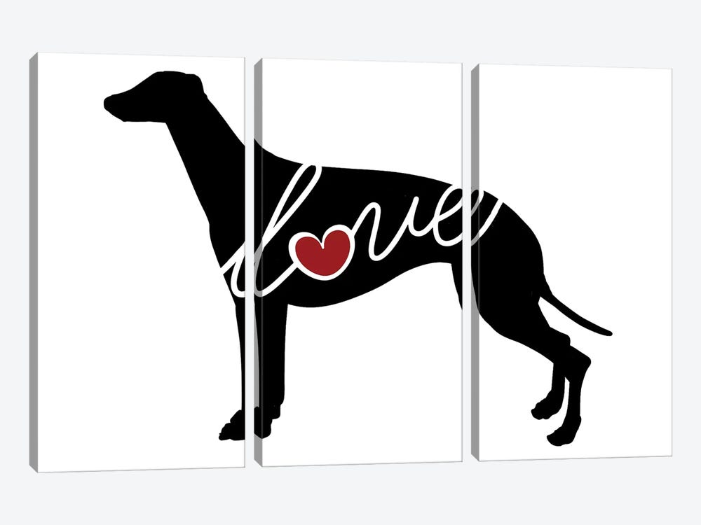 Greyhound by Traci Anderson 3-piece Art Print