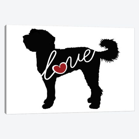 Labradoodle 3-Piece Canvas #TRA72} by Traci Anderson Art Print