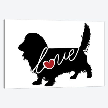 Long Haired Dachshund II Canvas Print #TRA76} by Traci Anderson Canvas Artwork