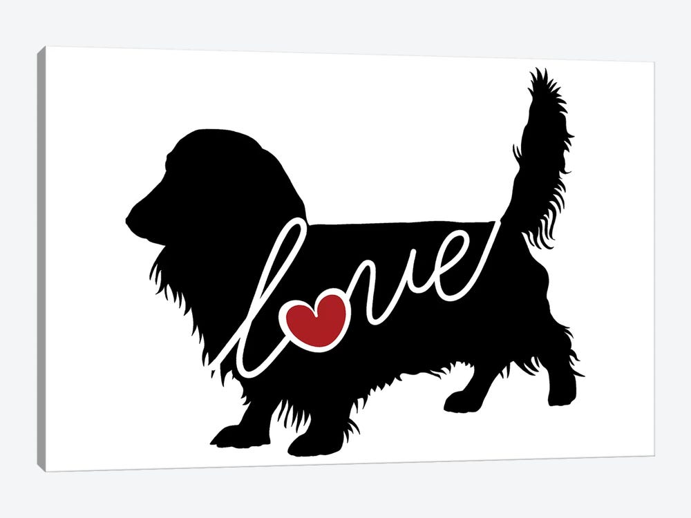 Long Haired Dachshund II by Traci Anderson 1-piece Canvas Wall Art