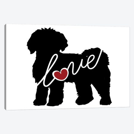 Mini Labradoodle Goldendoodle Canvas Print #TRA83} by Traci Anderson Canvas Wall Art