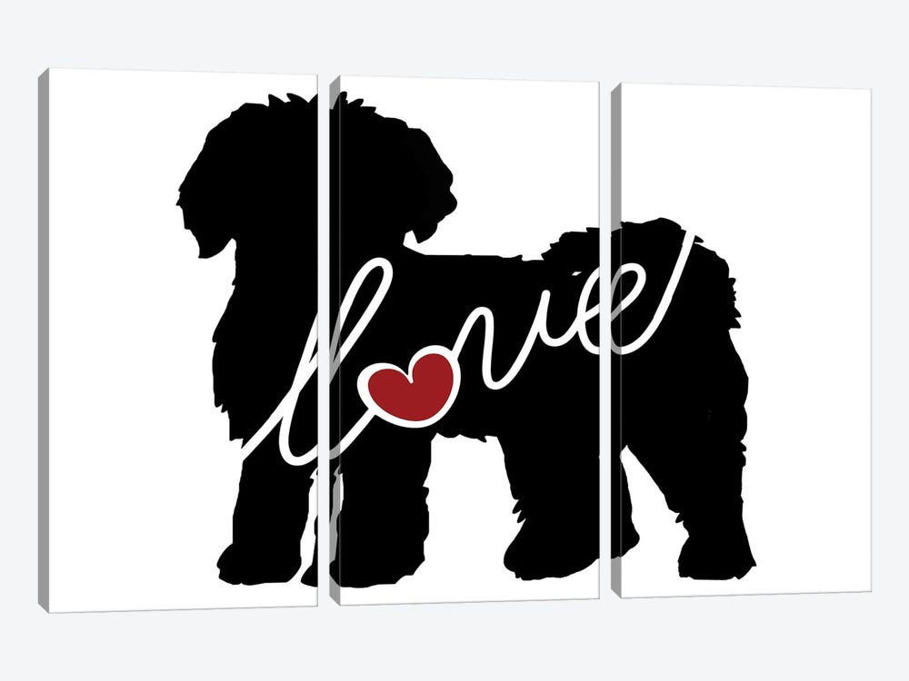 Mini Labradoodle Goldendoodle by Traci Anderson 3-piece Canvas Art