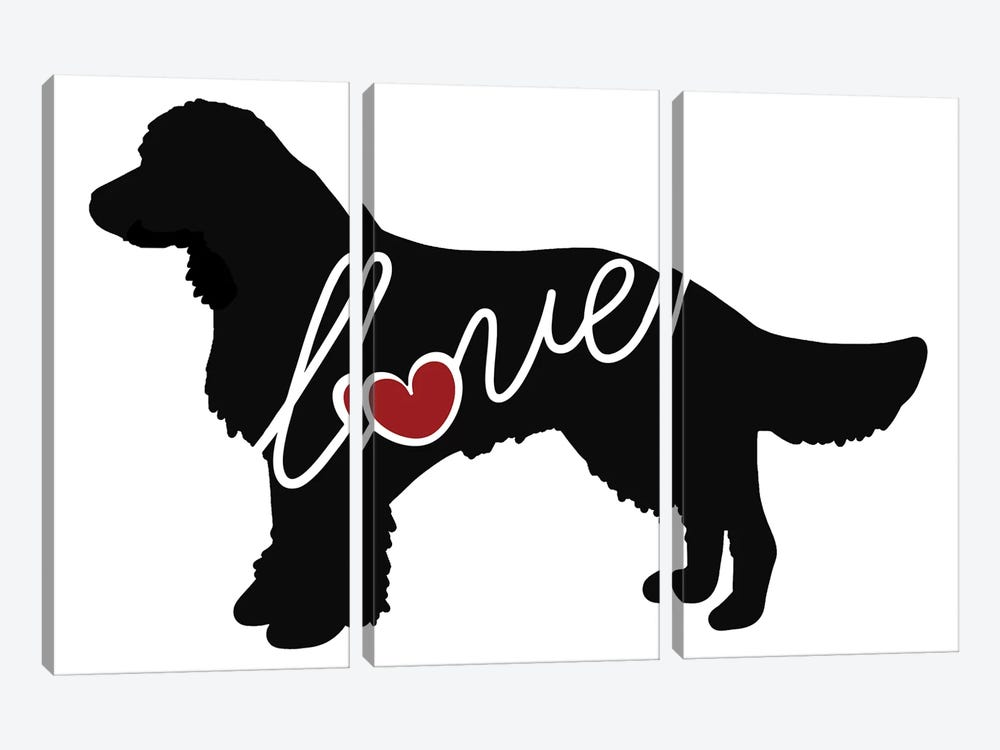 American Water Spaniel by Traci Anderson 3-piece Canvas Wall Art