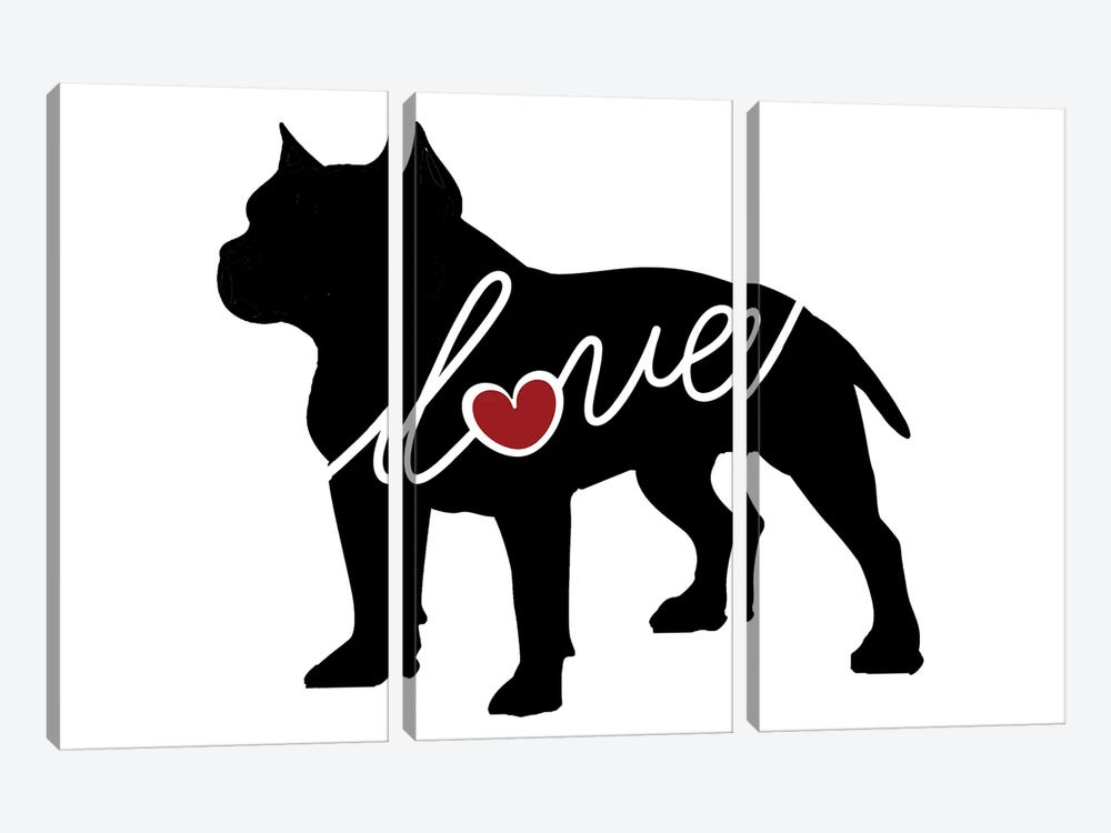 Pitbulll Docked by Traci Anderson 3-piece Canvas Art Print