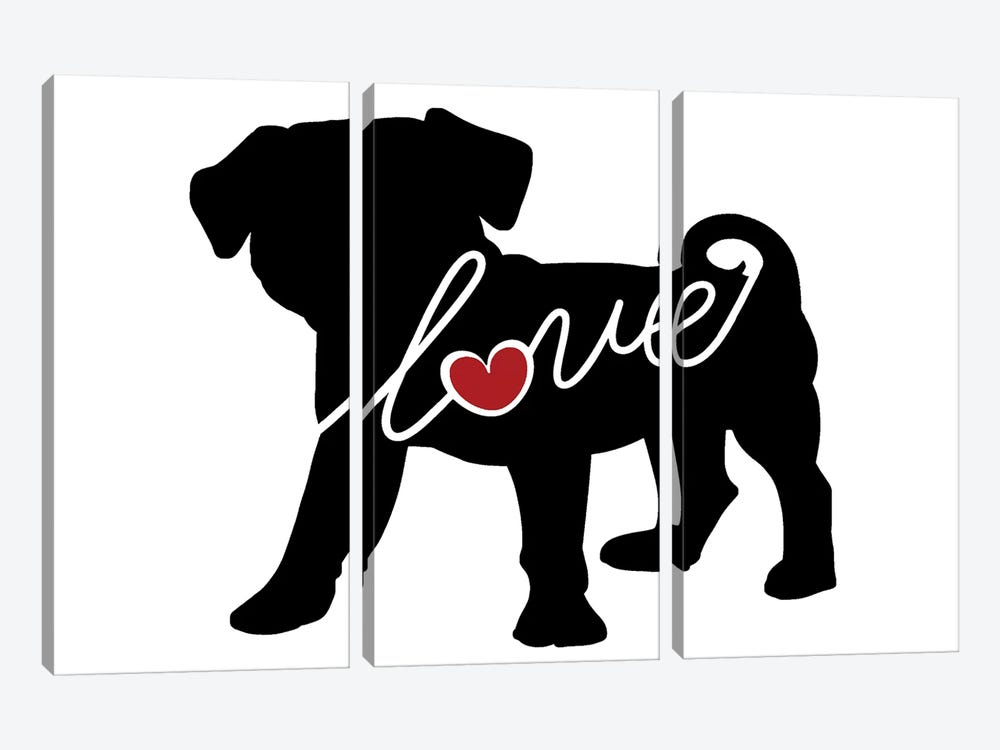 Puggle by Traci Anderson 3-piece Canvas Art
