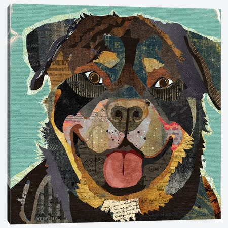 Rottie Canvas Print #TRA99} by Traci Anderson Canvas Art Print