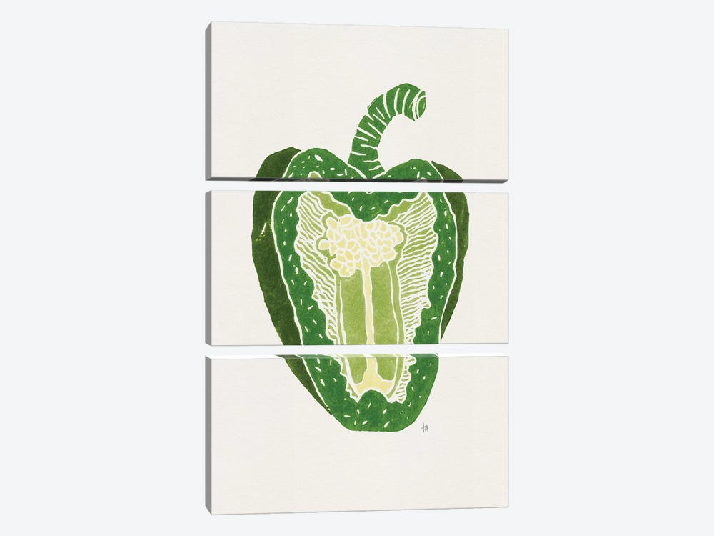 Green Pepper by Tracie Andrews 3-piece Art Print