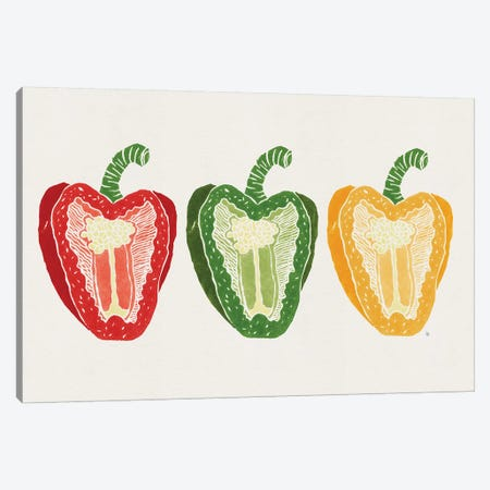 Mixed Peppers Canvas Print #TRC112} by Tracie Andrews Canvas Art