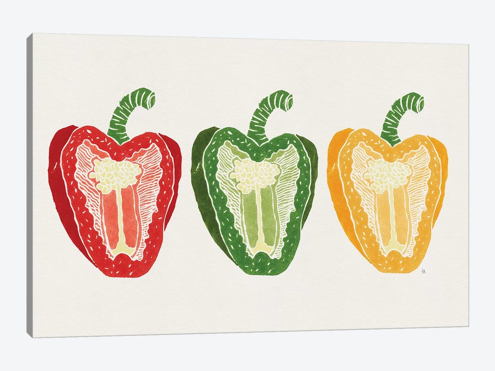 Mixed Peppers by Tracie Andrews 1-piece Canvas Wall Art