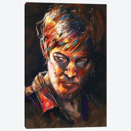 Daryl Dixon Canvas Print #TRC14} by Tracie Andrews Canvas Artwork