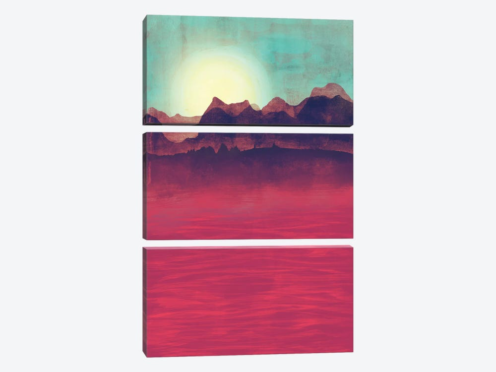 Distant Mountains by Tracie Andrews 3-piece Canvas Art Print
