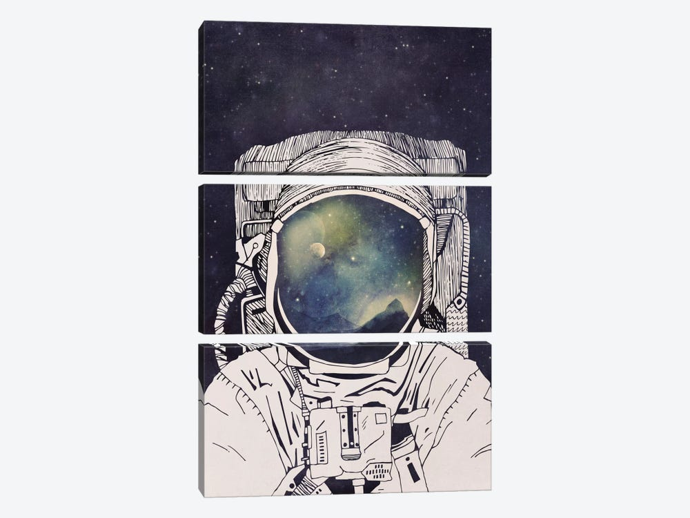 Dreaming Of Space by Tracie Andrews 3-piece Canvas Wall Art