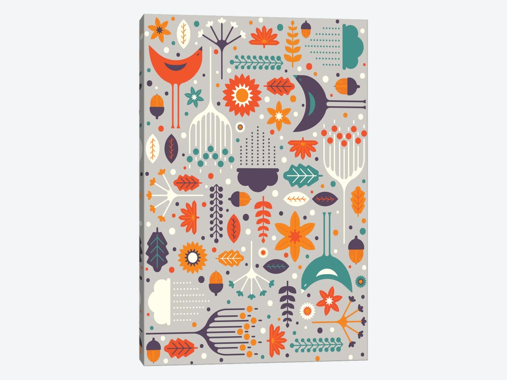 Flora And Fauna by Tracie Andrews 1-piece Canvas Artwork