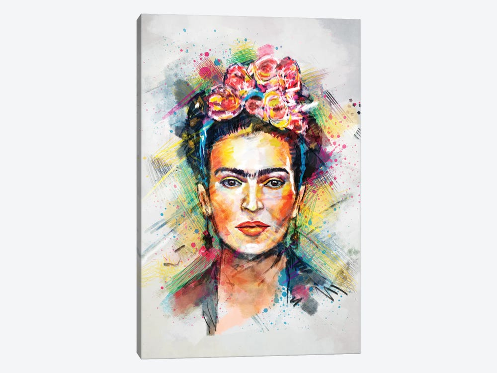 Frida Kahlo by Tracie Andrews 1-piece Canvas Wall Art