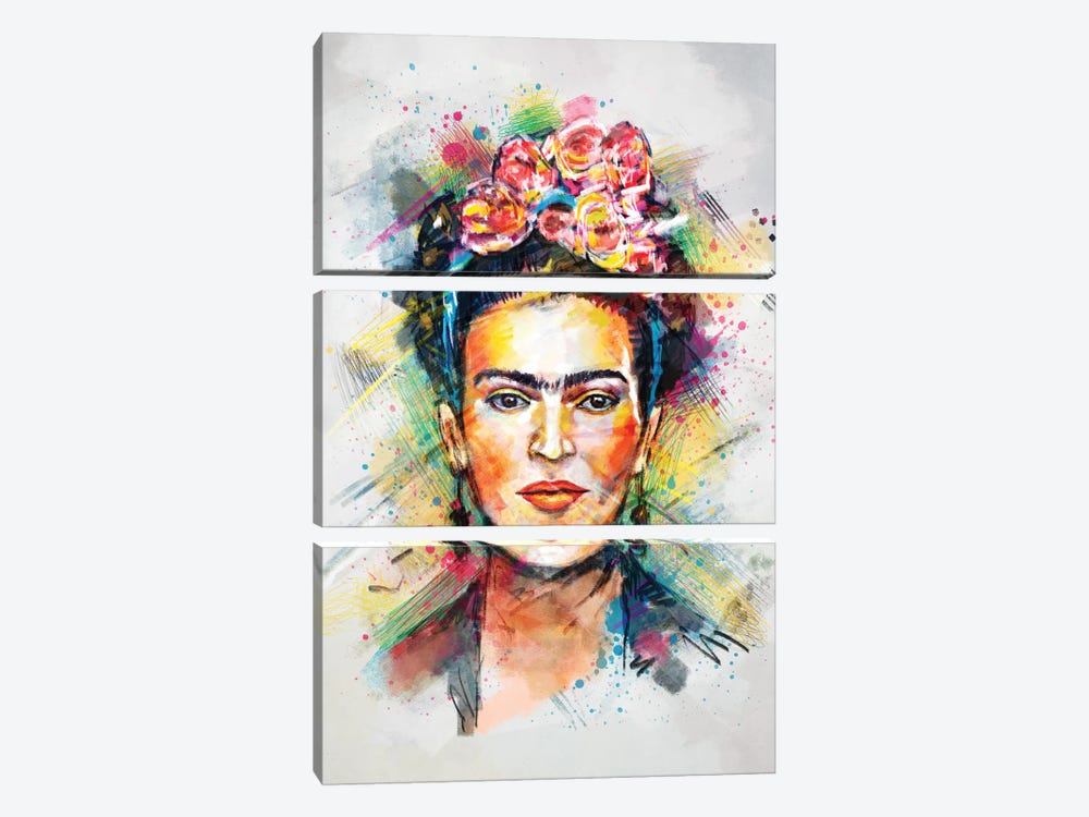 Frida Kahlo by Tracie Andrews 3-piece Canvas Artwork
