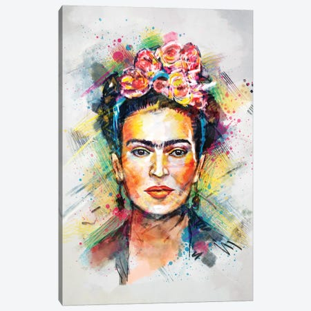 Frida Kahlo 3-Piece Canvas #TRC28} by Tracie Andrews Canvas Art