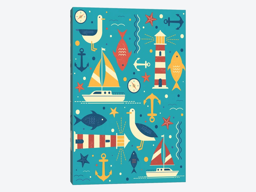 All At Sea by Tracie Andrews 1-piece Canvas Art