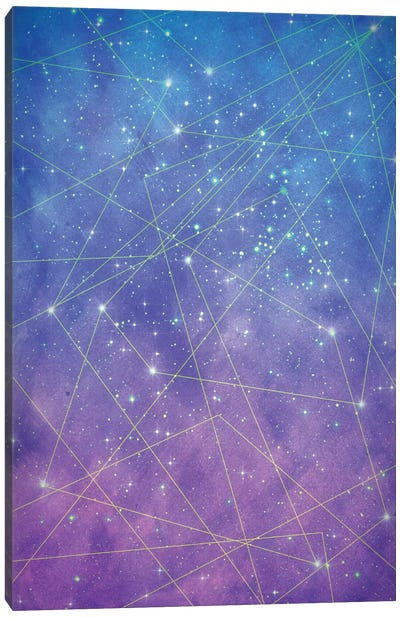 Map Of The Stars Canvas Art Print