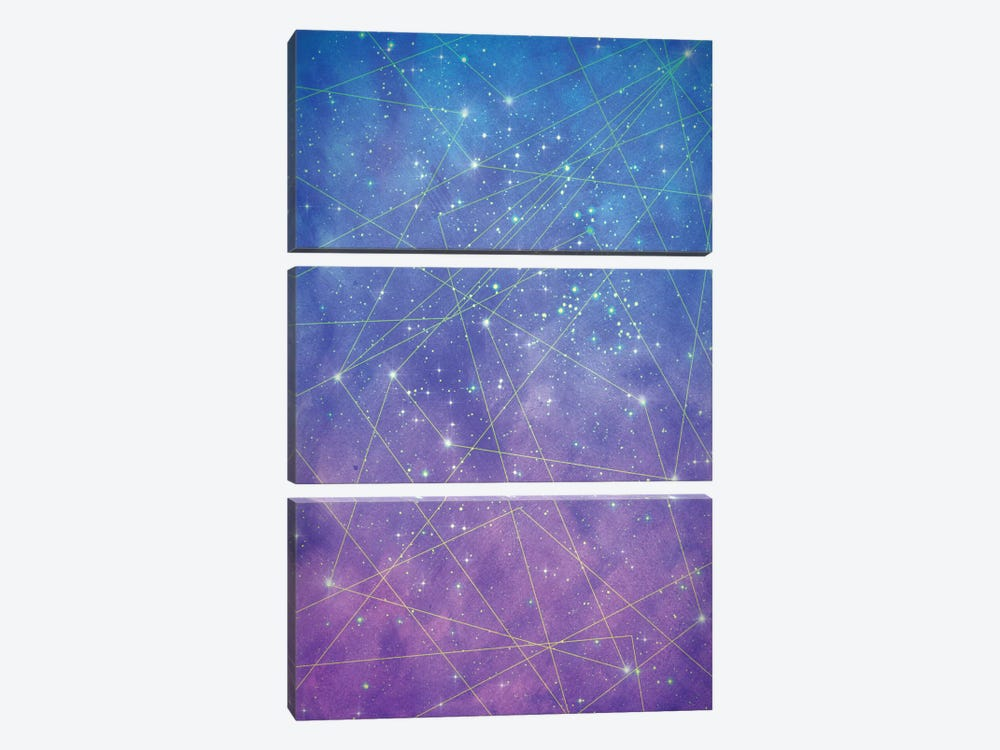 Map Of The Stars by Tracie Andrews 3-piece Canvas Print