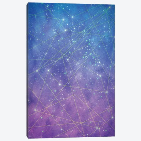 Map Of The Stars Canvas Print #TRC32} by Tracie Andrews Canvas Art Print