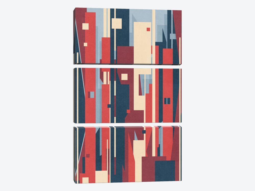 Metropolis by Tracie Andrews 3-piece Canvas Wall Art