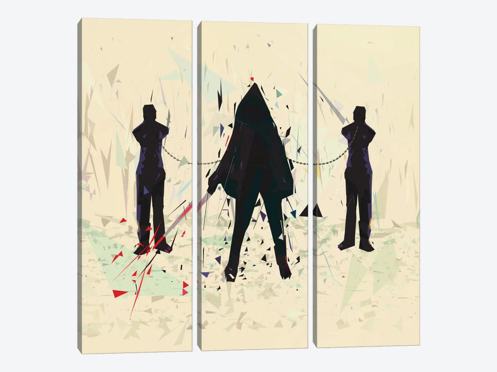 Michonne by Tracie Andrews 3-piece Canvas Art Print