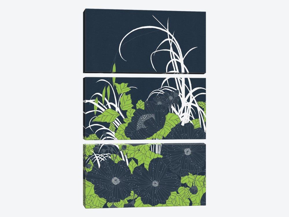 Midnight Flowers by Tracie Andrews 3-piece Art Print
